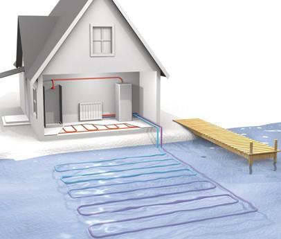 В этой системе тепловая энергия забирается из воды
