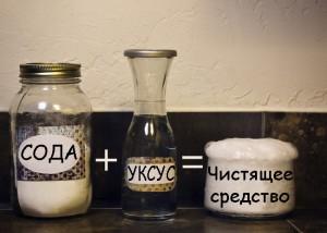Сода+уксус